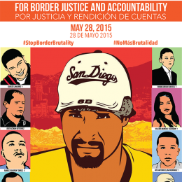 Help Us Stop Border Brutality. May 28: Day of Action for Justice and Accountability